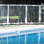 garde-corps piscine aluminium blanc guadeloupe sécurité barrière bassin