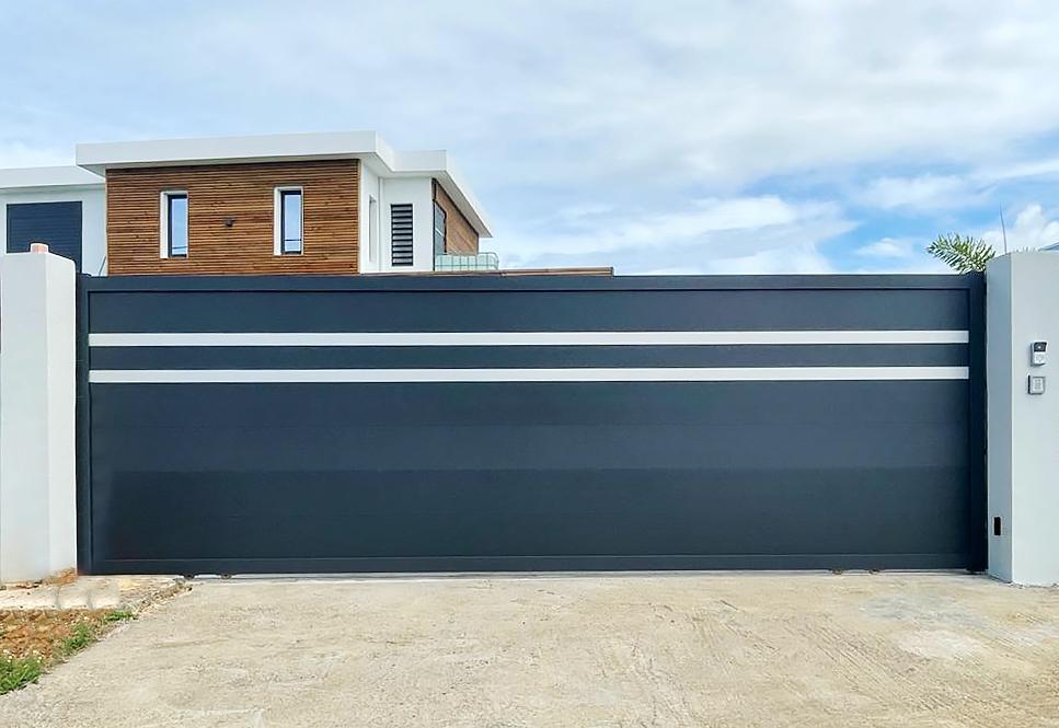 portail motorise technal graphite portillon aluminium