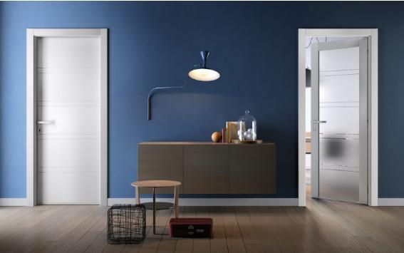 Portes intérieur bleu