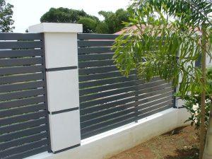 cloture aluminium anthracite menuiserie aluminium