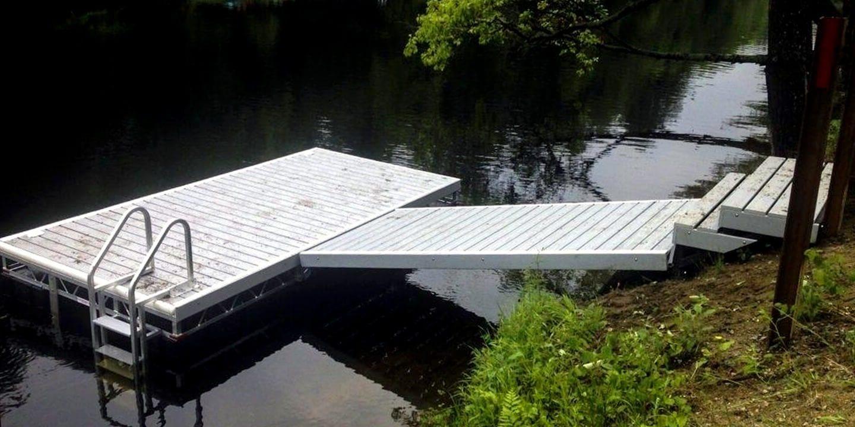Dock en aluminium