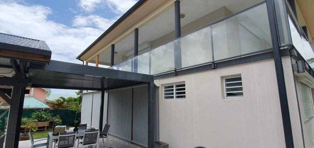 garde corps aluminium verre balcon graphite menuiserie aluminium