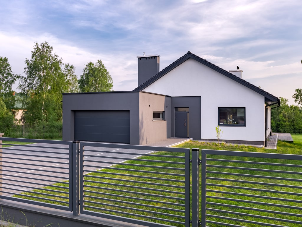 maison cloture aluminim guadeloupe gris jardin